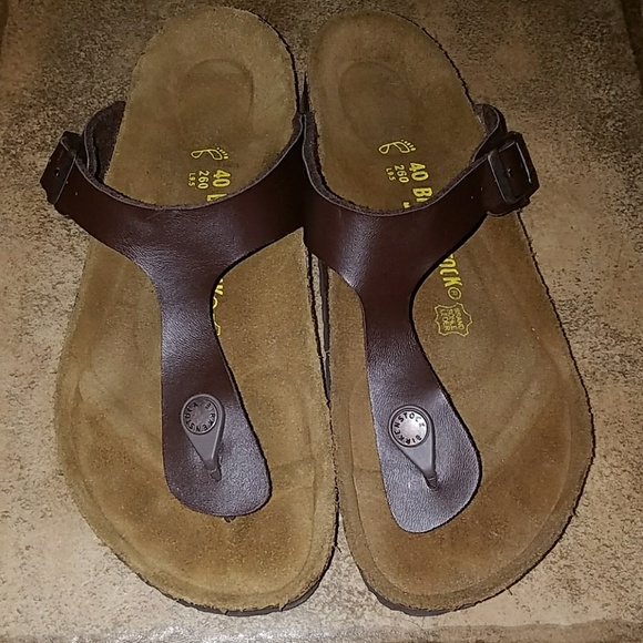 981193cacca0 Birkenstock Shoes - Birkenstock Gizeh sz 40 brown sandals
